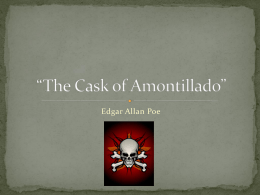 essay on cask of amontillado