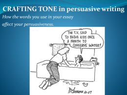 Persuasive powerpoint on Tone