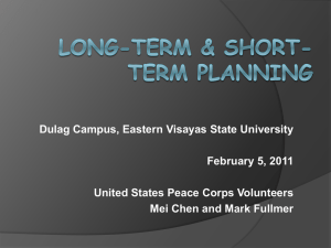 Long-Term and Short-Term Planning