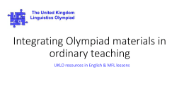 Integrating Olympiad materials in ordinary teaching
