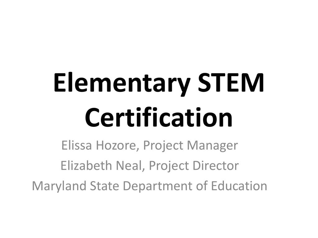 Elissa Hozore Maryland State Department Of Education