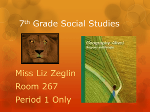 7th Grade Social Studies - Greensburg Salem School District