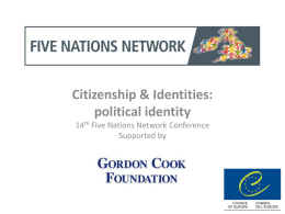 Citizenship & Identities: political identity