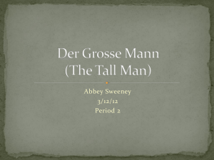 Der Grosse Mann (The Slender Man)