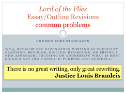 Lord of the Flies Essay/Outline Revisions