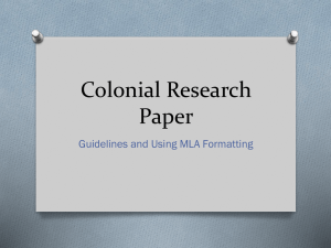 Colonial Research Paper