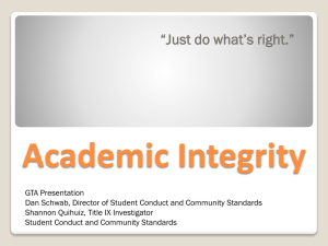 Academic integrity - Oregon State University