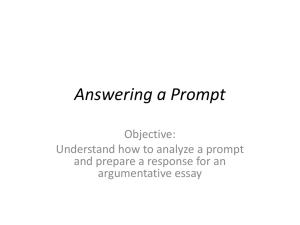 Answering a Prompt - Ft. Huachuca Schools