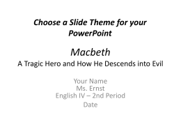 the crucible tragic hero essay macbeth pp project