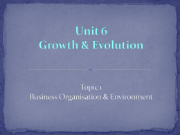 1.6 Growth and Evolution