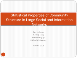 Statistical Properties of Community Structure in Large Social and