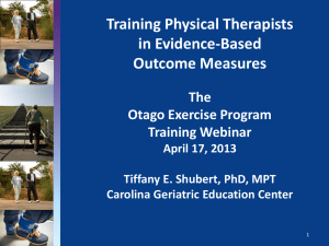 Training Physical Therapists in Evidence