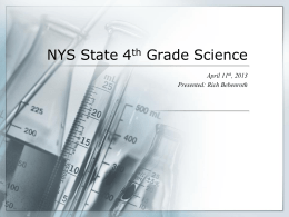 NYS State 4th Grade Science - Mr. Bebenroth