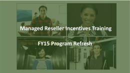 (ROW) Channel Incentives Program Refresh training