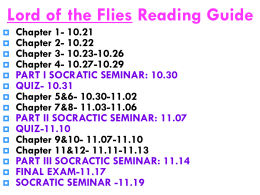 Lord of the Flies: READING LOGS