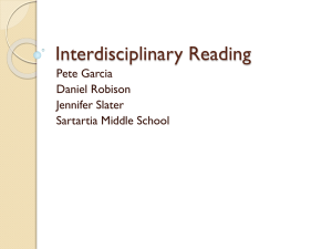 Interdisciplinary Reading