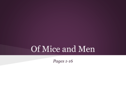 Of Mice and Men - VHHS Room 100 English Website