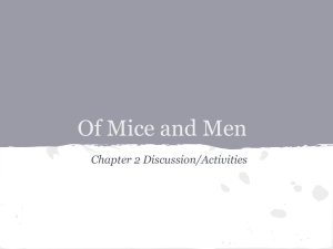 Of Mice and Men - Mounds View School Websites