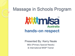 Massage in Schools Program - Education Support South Network