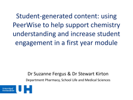Student-generated content: using PeerWise to help