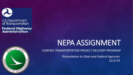 NEPA Assignment - Ohio Department of Transportation