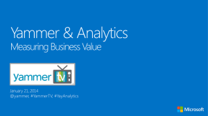 SDPS Yammer PoC - Measuring business value