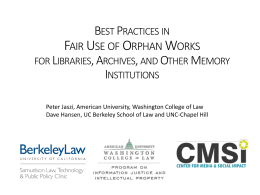 Digital Library Access to Orphan Works