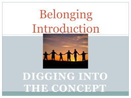 Introduction to the concept - ppt