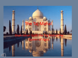 The Taj Mahal powerpoint finished 2