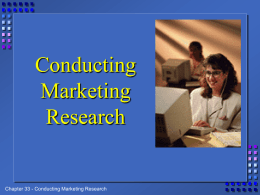 Conducting Market Research PowerPoint
