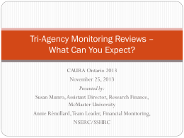 Tri-Agency Monitoring Review - What can you expect?