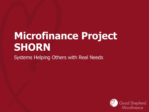 Good Shepherd Microfinance Project