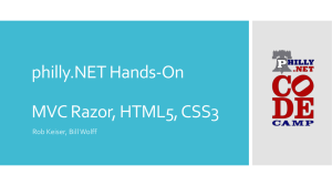 philly.NET Hands-On MVC Razor, HTML5, CSS3