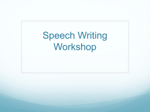 Speech Writing Workshop