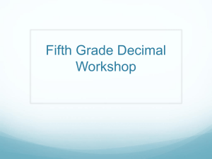 Fifth grade fraction decimal
