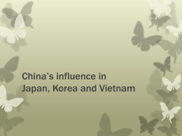 China`s influence in Japan, Korea and Vietnam