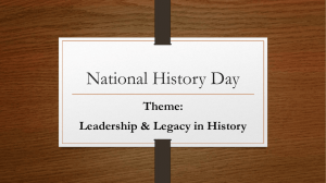 National History Day Guidelines
