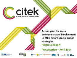 Action plan for social economy actors involvment