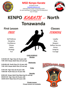 General Karate Flyer - Karate in Tonawanda NY