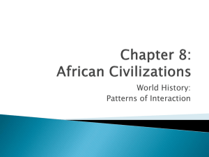 Chapter 8: African Civilizations