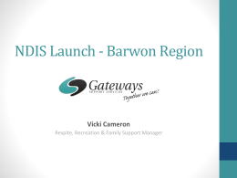 NDIS Launch - Barwon Region - National Respite Association Inc