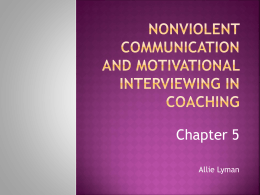 Nonviolent Communication And motivational