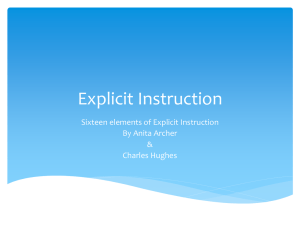 PowerPoint about Explicit Instruction