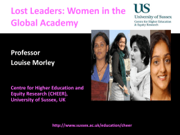 Lost Leaders - Beyond The Glass Ceiling 2014