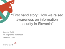 How we raised awareness on information security in Slovenia