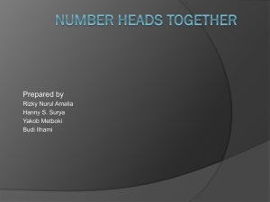 Cooperative Learning- Numbered Head Together
