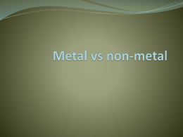 Metal vs non-metal