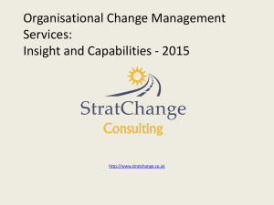 StratChange Consulting OCM Change Services 2015