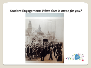 Student Enagement: What does it mean for you?