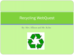 Recycling+WebQuest